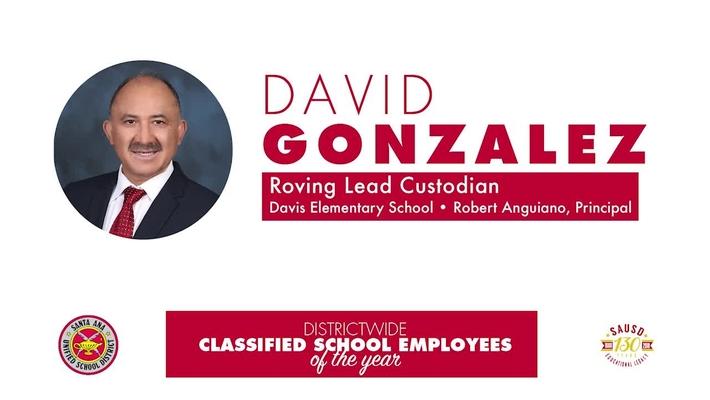 Classified Employee of the Year [2018-19] David Gonzalez