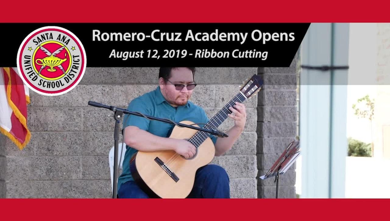 SAUSD's Newest School Romero-Cruz Academy Opens