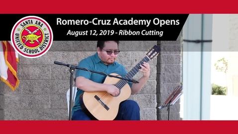 Thumbnail for entry SAUSD's Newest School Romero-Cruz Academy Opens