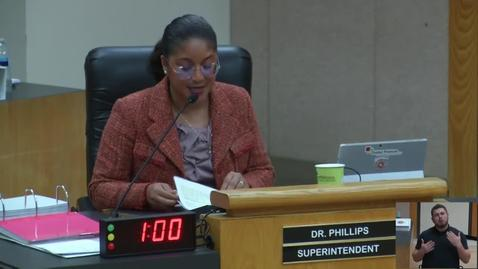 Thumbnail for entry Superintendent Stefanie Phillips, Ed.D. Report to SAUSD School Board, March 12, 2019