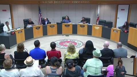 Thumbnail for entry SAUSD Board Meeting June 11, 2019