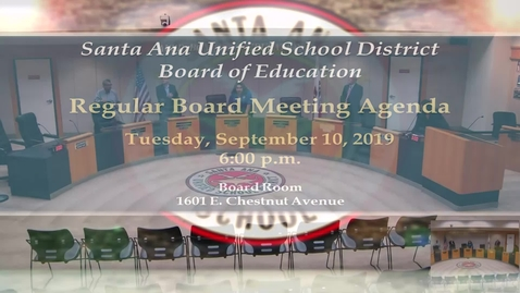 Thumbnail for entry SAUSD Board Meeting September 10, 2019