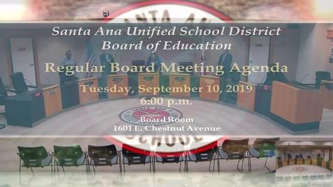 Thumbnail for entry SAUSD Board Meeting September 10, 2019