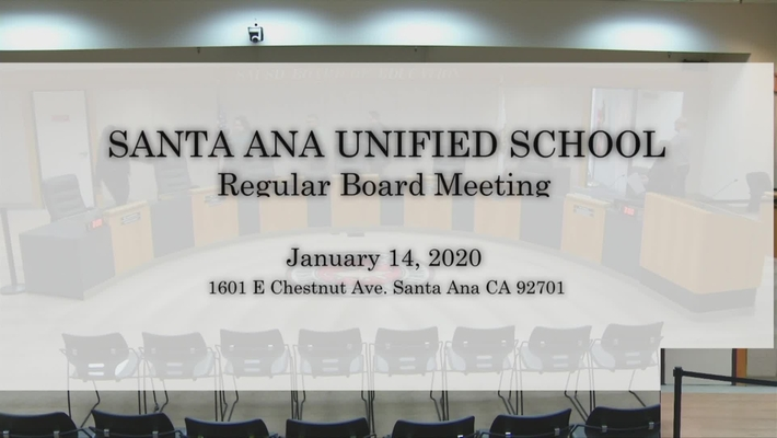 SAUSD Board Meeting  January 14, 2020