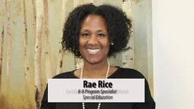 Thumbnail for entry Rae Rice, Certificated Employee of the Month September, 12, 2017