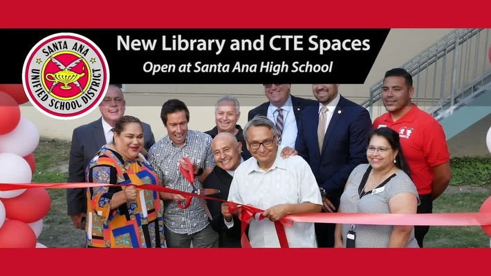 Santa Ana High New CTE and Library Spaces