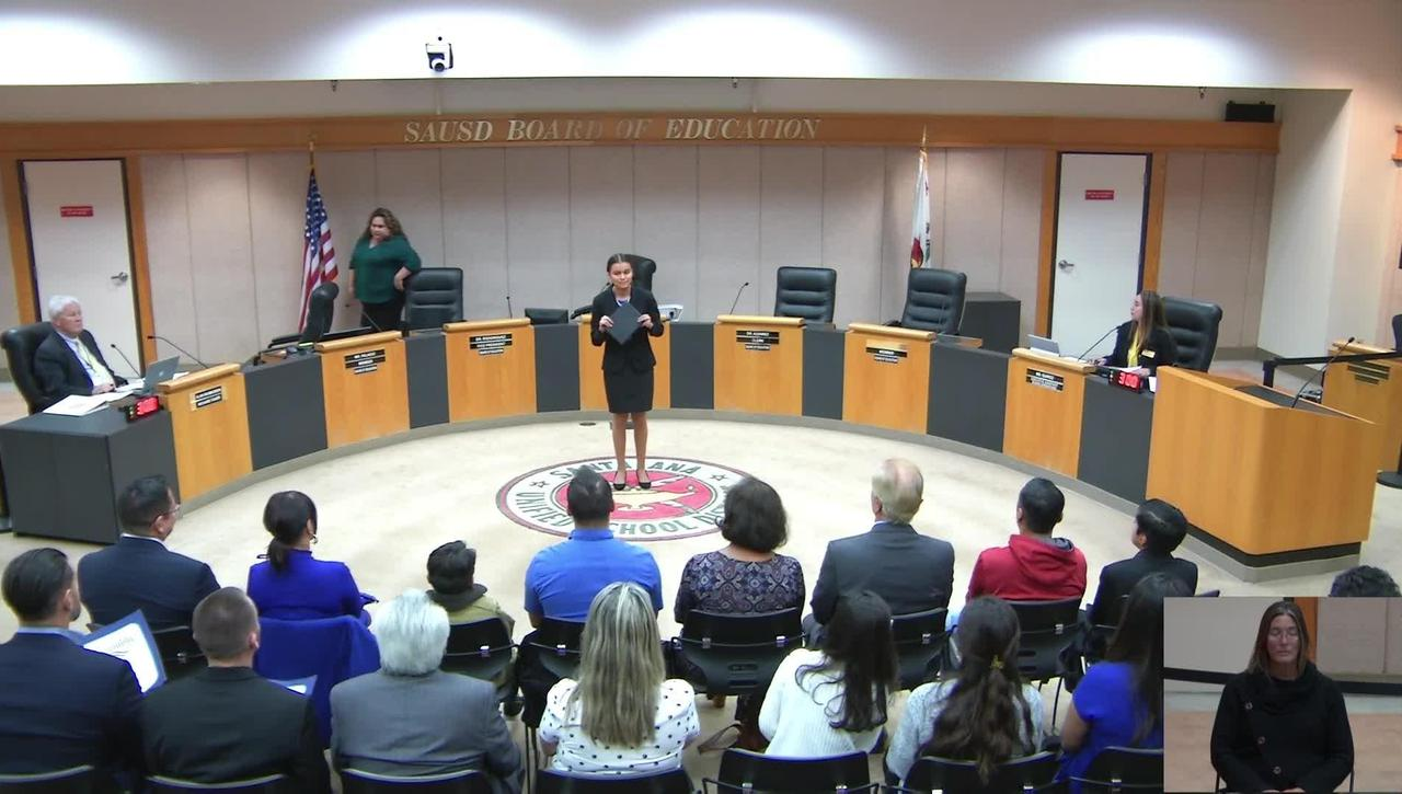 SAUSD Board Meeting November 19, 2019-SAUSD.TV