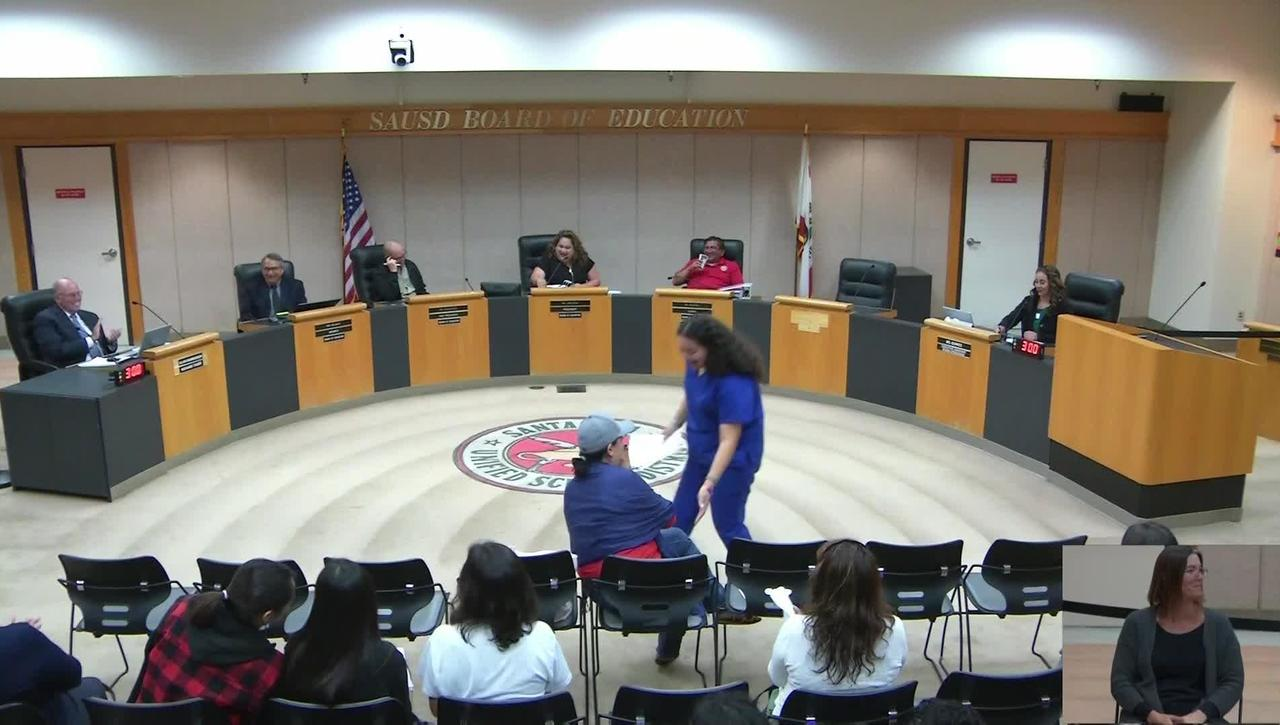 SAUSD Board Meeting October 08, 2019