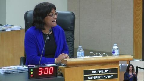 Thumbnail for entry Superintendent Dr. Stefanie Phillips Remarks December 12, 2017  SAUSD Board Meeting