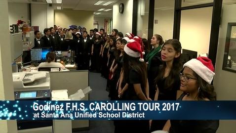 Thumbnail for entry Godinez H.S Carolling Tour 2017 at District.