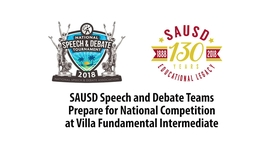 Thumbnail for entry Speech and Debate Teams Prepare for National Competition [SAUSDTV]