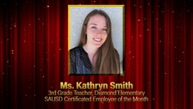 Thumbnail for entry Kathryn Smith, Certificated Employee of the Month, SAUSD