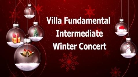 Villa Fundamental Intermediate Winter Concert 2018