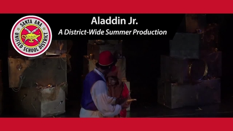Thumbnail for entry SAUSD  Elementary Students Stage Summer Musical: Aladdin Jr.