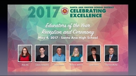 Thumbnail for entry Celebrate Education of the Year  2017
