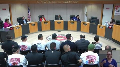 Thumbnail for entry SAUSD Special Board Meeting August 24, 2018