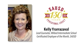 Thumbnail for entry Kelly Yrarrazaval - SAUSD Certificated Employee of the Month
