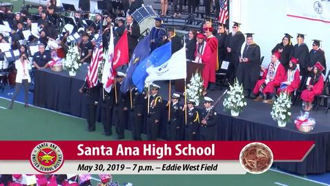 Thumbnail for entry Santa Ana High School 2019 Graduation