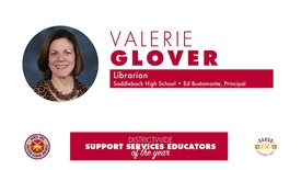 Thumbnail for entry High School Support Services Educator of the Year 2018 Valerie Glover, (SAUSD)