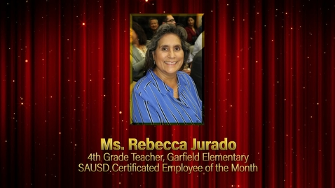 Thumbnail for entry Rebecca Jurado Certificated Employee of the Month