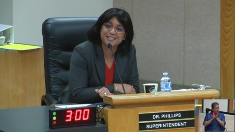 Thumbnail for entry Superintendent Dr. Stefanie Phillips Remarks - November 14 2017 Board Meeting