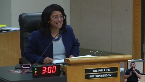 Thumbnail for entry Superintendent Stefanie Phillips, Ed.D. Report to SAUSD School Board, February 26, 2019