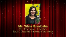 Thumbnail for entry Silvia Ruvalcaba, Classified Employee of the Month, SAUSD