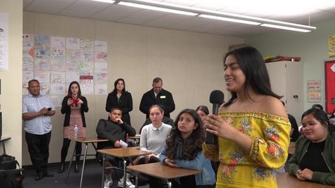 Santa Ana H.S. Speech and Debate - Skype Conference with Broward County, Florida Students  March14, 2018