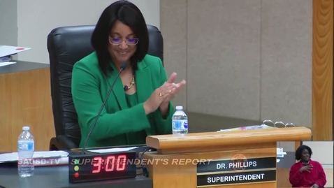 Thumbnail for entry Superintendent's Report to SAUSD Board of Education, March 13, 2018