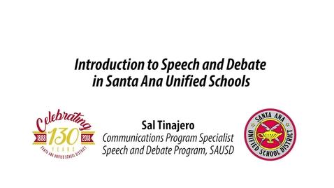 Thumbnail for entry Sal Tinajero Parent Message [EnglishVers.2018]
