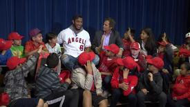 Thumbnail for entry Angels Baseball Team Adopts Monte Vista Elementary [SAUSDTV]