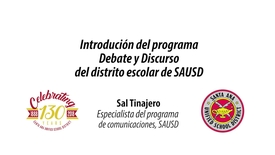 Thumbnail for entry Sal Tinajero Intro to Debate y Discurso en español