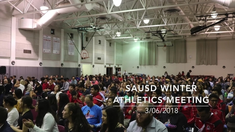 Thumbnail for entry Winter Athletic Meeting Slideshow 2018