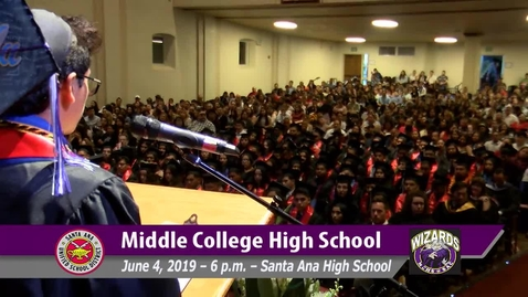 Thumbnail for entry Middle College High School 2019 Graduation