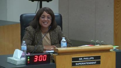 Video Thumbnail For Superintendent Stefanie Phillips Ed D Report To Sausd School Board