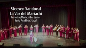 Thumbnail for entry Santa Ana H.S. Mariachi Los Santos perform with Steeven Sandoval in Bill Medley Auditorium,  SAHS