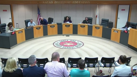 Thumbnail for entry SAUSD Board Meeting October 23, 2018