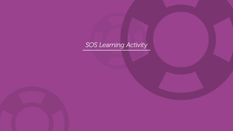 Thumbnail for entry SOS Learning - AEIOU