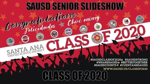 Thumbnail for entry SAUSD 2020 Graduates Slideshow