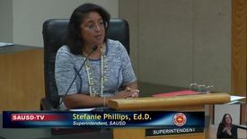 Thumbnail for entry Superintendent Stefanie Phillips, Ed.D. Report to SAUSD School Board, January 22, 2019