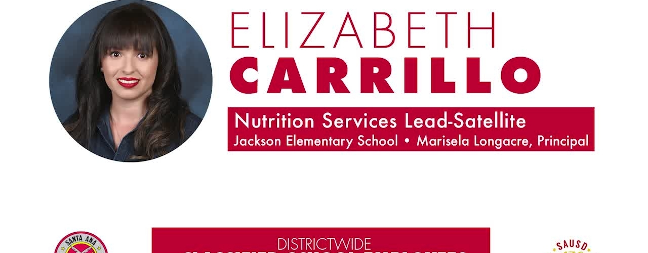 Classified Employee of the Year Elizabeth Carrillo