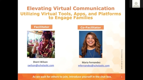 Thumbnail for entry Elevating Virtual Communication Session 1