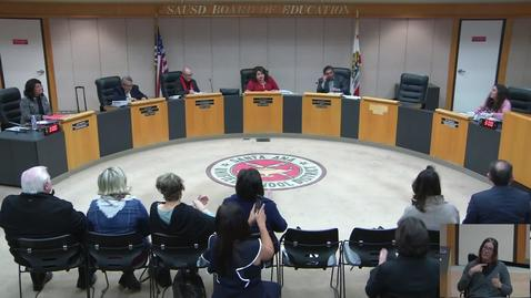 Thumbnail for entry SAUSD Board Meeting February 12, 2019