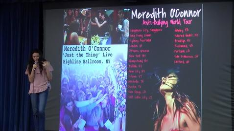 Anti-bullying Assembly Meredith O'Connor at Monte Vista Elementary School 2018