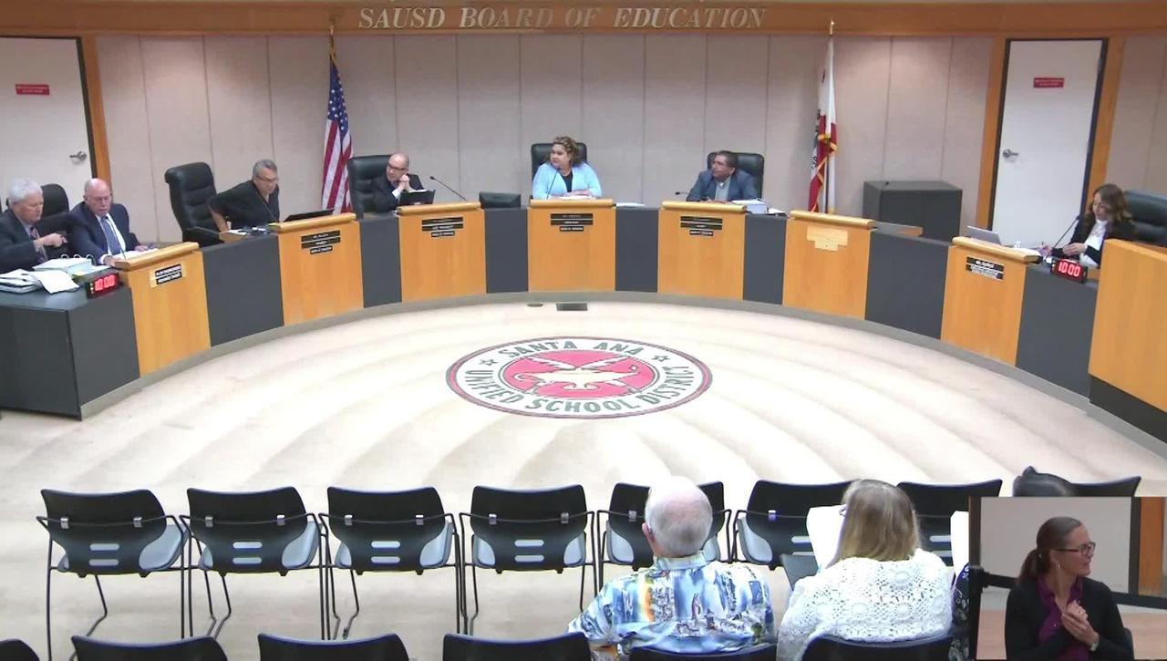 SAUSD Board Meeting August 27, 2019