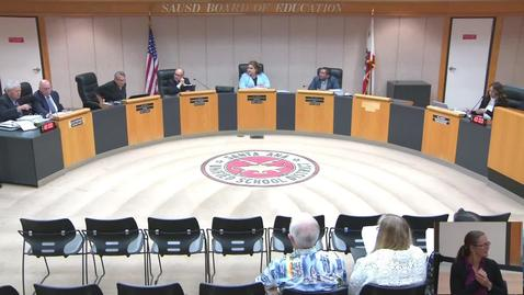 Thumbnail for entry SAUSD Board Meeting August 27, 2019