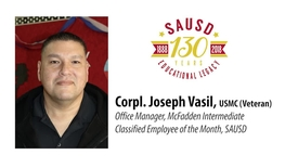 Thumbnail for entry Joseph Vasil Classified Employee of the Month Jan. 23, 2018
