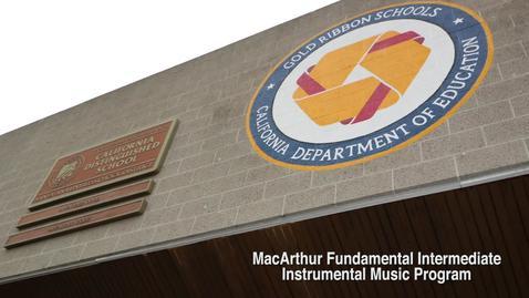 Thumbnail for entry MacArthur Fundamental Intermediate Receives Saxophone Donation