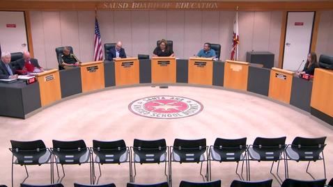 SAUSD Special Board Meeting September 03, 2019