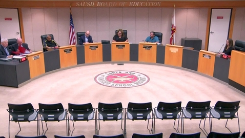 Thumbnail for entry SAUSD Special Board Meeting September 03, 2019